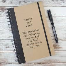 wedding gift journal personalized wedding gift journal couples gift notebook