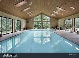 In Door Pool Indoor Pool Luxury Home Skylights Stock Photo 70742068 Shutterstock