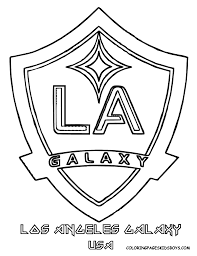 soccer coloring pages the boys pinterest la galaxy