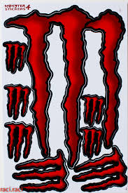 red monster energy sticker decal supercross motocross raciraci
