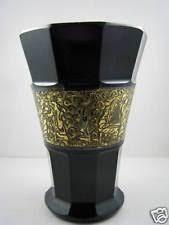 Amethyst Glass Vase Vase Amethyst Moser Art Glass Ebay