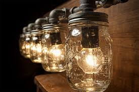 5 mason jar lights pipe light vanity light edison light rustic light