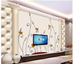 online get cheap hand painted wall mural aliexpress com alibaba custom 3d wallpaper roman column simple wind hand painted flower background wall murals wall 3d wallpaper