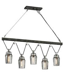 Nickel Island Light Troy Lighting F5995 Citizen 45 Inch Wide Island Light Capitol