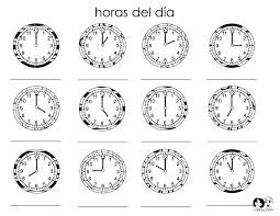 103 best hora images on pinterest telling time daily routines