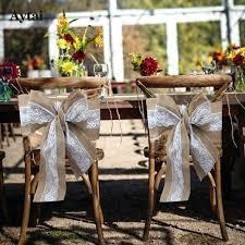 wedding chair bows aytai 1pc lace burlap chair bow chair sash 275x15cm tie bowknot