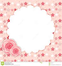 cute frame with rose flowers vector illustration stock vector