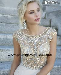 champagne empire scoop chiffon cap sleeves prom dress with beading