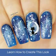 cat on the moon tutorial u2013 mitty nail art tools u0026 brushes