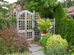 stone paths lattice garden fence and gate designs trellis for