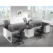Modern Desk Set Modern Basic Workstation Desk Set 4 Bridgecreek Office