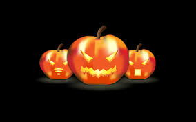 halloween 4k wallpaper three funny pumpkins lanterns hd halloween wallpaper