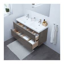 Colored Bathroom Sinks Godmorgon Odensvik Sink Cabinet With 4 Drawers High Gloss Gray