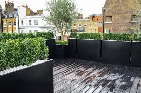 roof terrace design roof terrace planters outdoor planters