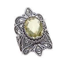 ottoman silver jewelry collection 4 6ct lemon quartz filigree ring