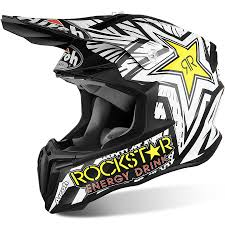 rockstar motocross boots airoh new mx 2017 twist rockstar matte black white motocross dirt