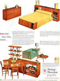 Best Midcentury Furniture Images On Pinterest Vintage - Mid century modern blonde bedroom furniture