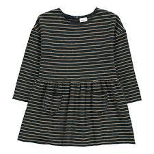 maia striped knit dress midnight blue buho fashion baby