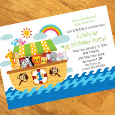 noah s ark 1st birthday personalized invitations at dollar carousel