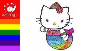 drawing and coloring hello kitty coloring pages for kids