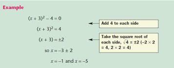 quadratic equations mathematics gcse revision