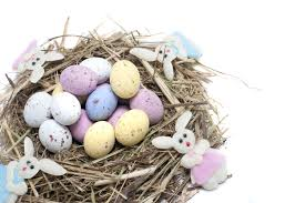 free image of easter nest with eggs and bunnies