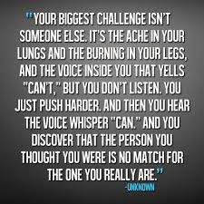 motivational quote running this is so true there are days i have the inner battle with