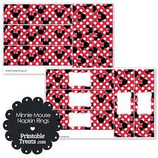 printable napkin rings printable minnie mouse napkin rings printable treats