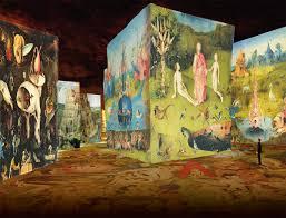 exhibition bosch brueghel arcimboldo at the carrières de lumières