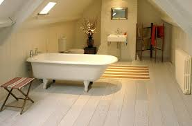 enticing loft bathroom ideas showcasing cool white standing