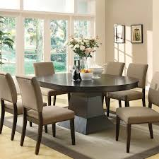 Stunning Oval Dining Room Set Pictures Rugoingmywayus - Oval kitchen table