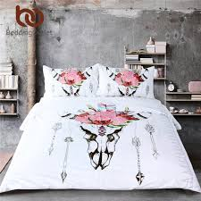 bedding outlet stores beddingoutlet bull head skull duvet cover set illustration of