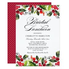 christmas brunch invitations christmas bridal shower invitations announcements zazzle