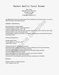 sle resume for highschool students with little work experience senior qa resume experienced software tester sle monster letter
