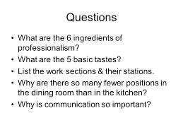Basic Kitchen Essentials Chapter 4 Kitchen Essentials Part 1 U2014 Professionalism Section 4 1