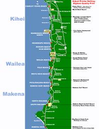 Island Beach State Park Map by Maui Map South Side Beaches Makena Kihei Wailea Maui