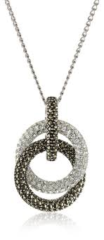 knot pendant necklace images Judith jack sterling silver marcasite and crystal pave jpg