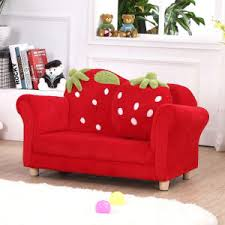 china curved strawberry kids sofa chair baby furniture sf 169