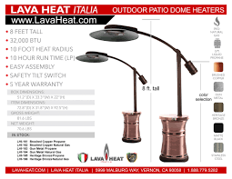 tall propane patio heaters lava heat italia commercial dome style patio heater cantilever