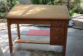 Vintage Wood Drafting Table Furniture Mobile Antique Price Guide