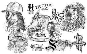 h town tattoo flash tattoo flash by txrec on deviantart