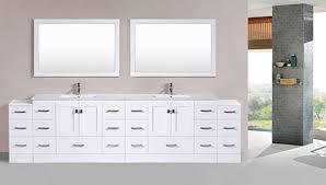 Over  Redondo White Double Modern Bathroom Vanity With - Bathroom vanitis 2