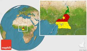 map of cameroon flag location map of cameroon satellite outside