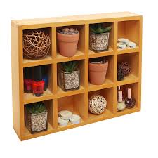 amazon com wooden freestanding wall mounted 12 compartment