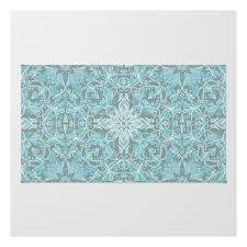 Chevron Print Area Rug Soft Teal Blue U0026 Grey Hand Drawn Floral Pattern Rug 28 Liked