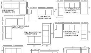 Sectional Sofas Dimensions Cool Dimensions Of A Sectional Sofa Gallery Of Landscape