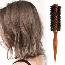 Sisir Rol anti statis bulu keriting perawatan rambut sisir sikat rol kayu