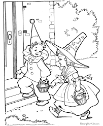 printable kids halloween coloring pages vintage coloring
