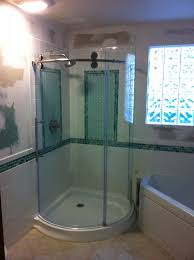 Curved Shower Doors Master Bath With Curved Shower Doors