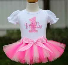 1st birthday tutu personalized light pink polka dot birthday tutu